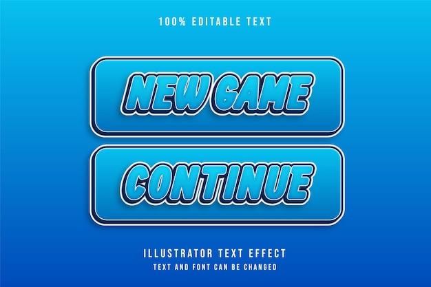 Nouveau jeu continue, effet de texte modifiable en 3d.