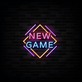 Nouveau jeu de texte de style d'enseignes au néon