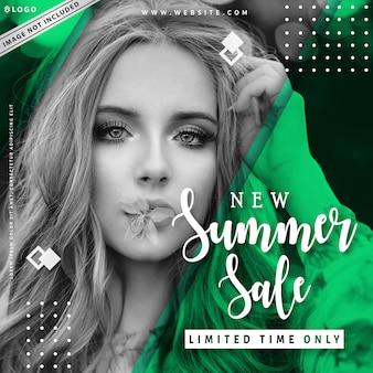 Nouveau modèle de bannière de vente d'été