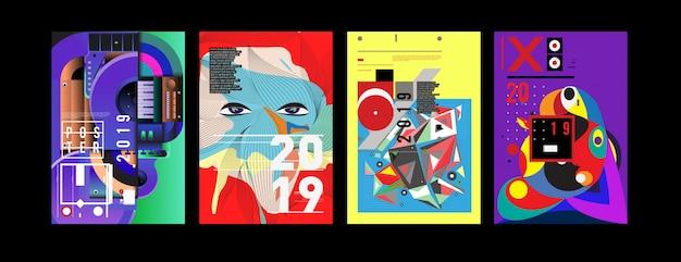 Nouveau modèle de conception d'affiche et de couverture