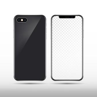 Nouveau smartphone réaliste isolé. modèle de téléphone mobile moderne