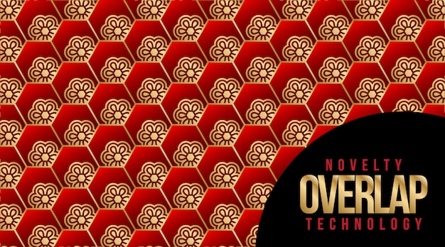 Nouveauté overlap technology pattern background