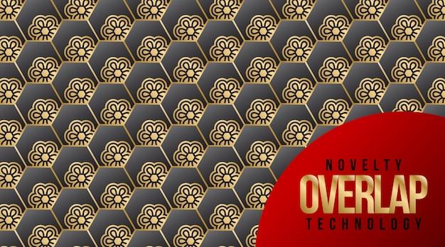 Nouveauté overlap technology pattern background