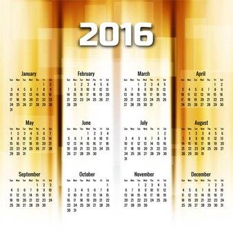 Nouvel an 2016 avec golden géométrique calendrier