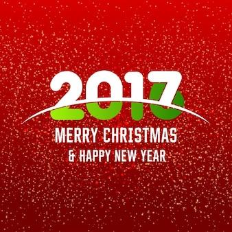 Nouvel an 2017 conception de texte heureux abstrait rouge