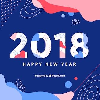 Nouvel an 2018 fond