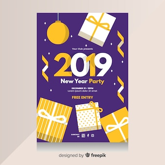 Nouvel an 2019 flyer du parti