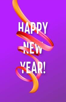 Nouvel an 2019 sur le fond d'un élément de conception d'huile de coup de pinceau coloré ou de peinture acrylique. illustration vectorielle eps10