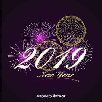 Nouvel an 2019 fond