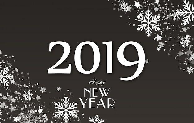 Nouvel an 2019 et illustration de concept de fond de vacances joyeux noël.