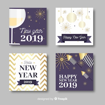 Nouvel an 2019 jeu de cartes