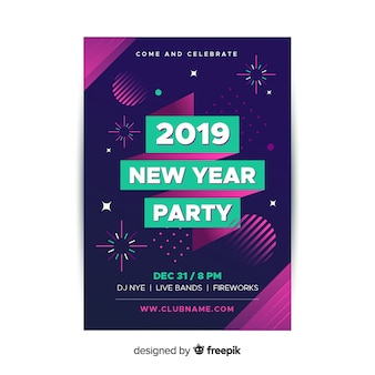 Nouvel an 2019 party flyer