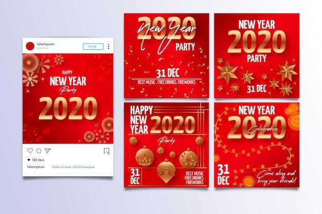 Nouvel an 2020 partie instagram post collection