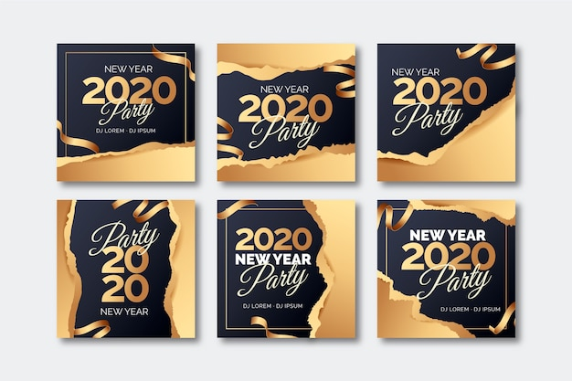 Nouvel an 2020 partie instagram post collection