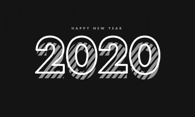 Nouvel an 2020 vintage fond sombre