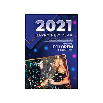 Nouvel an 2021 flyer a5 festival