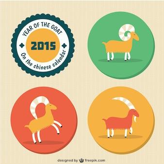 Nouvel an chinois avec des chèvres