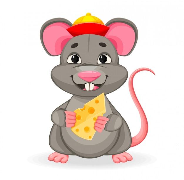 Nouvel an chinois. rat drôle