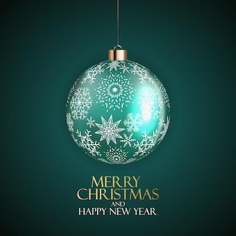 Nouvel an et joyeux noël fond