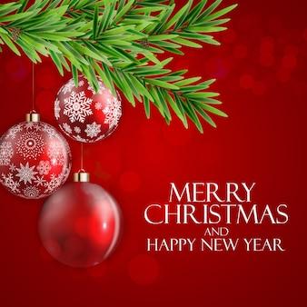 Nouvel an de vacances et fond de joyeux noël.