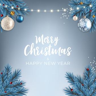 Nouvel an de vacances et fond de joyeux noël