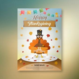 Nouvelle affiche de conception de thanksgiving