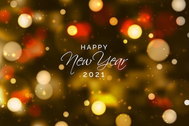 Nouvelle année 2021 floue