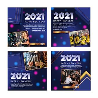 Nouvelle année 2021 ig post collection