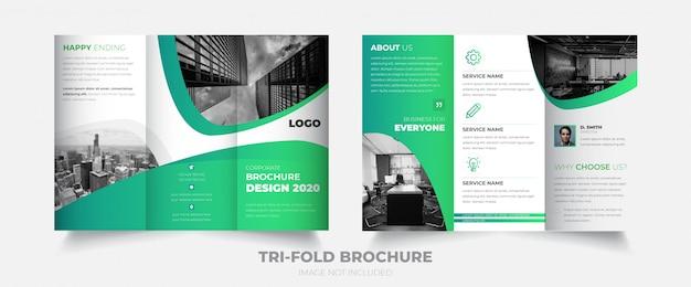 Nouvelle brochure d'entreprise à trois volets