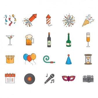 Nouvelle collection d'icônes année