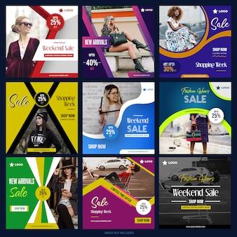 Nouvelle collection de médias numériques pour facebook instagram
