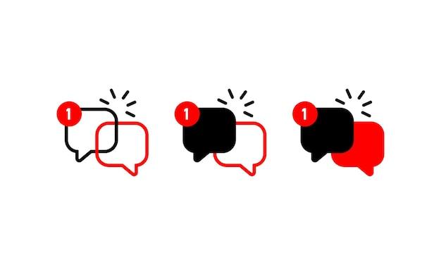 Nouvelle icône de notification de message ou symbole de dialogue pour la conception, le logo de votre site web