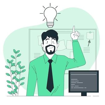 Nouvelle illustration de concept d'idée