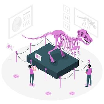 Nouvelle illustration de concept normal dans les musées (covid)