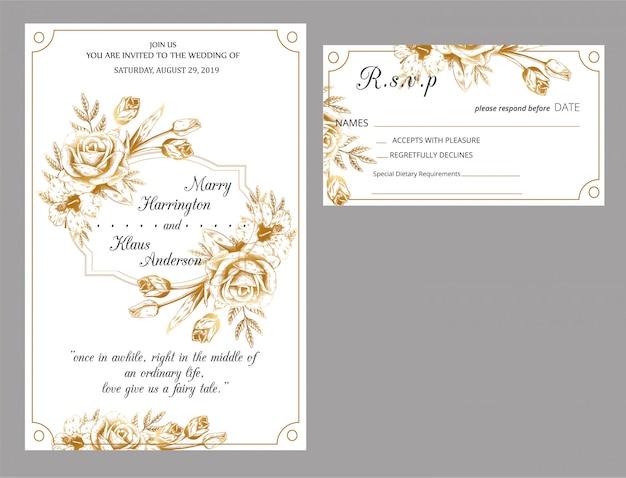 Nouvelle invitation de mariage