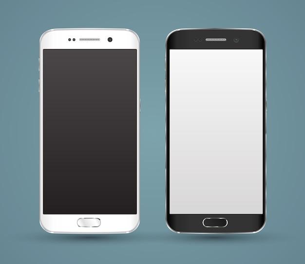 Nouvelle maquette réaliste de smartphones