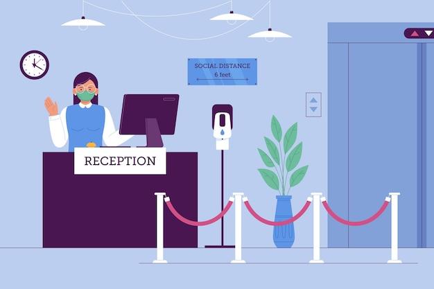 Nouvelle norme dans l'illustration plate des hôtels