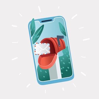 Nouvelle notification par e-mail sur téléphone mobile