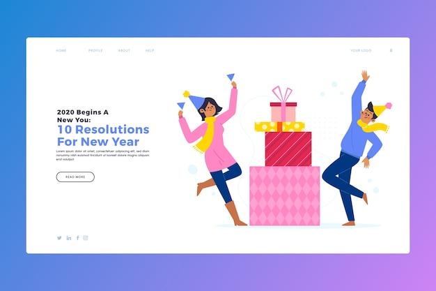 Nouvelle page d'atterrissage en design plat