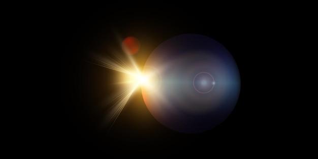 Nouvelle vue du soleil lumineux étoile depuis l'espace.