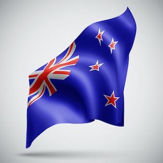 Nouvelle-zélande, vecteur 3d flag isolé sur fond blanc