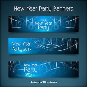 De nouvelles bannières année avec abstrait