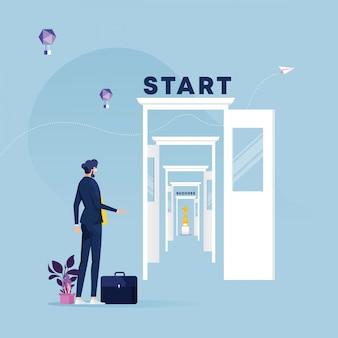 De nouvelles façons de réussir-chemin complexe pour atteindre l'objectif ou le concept de rêve