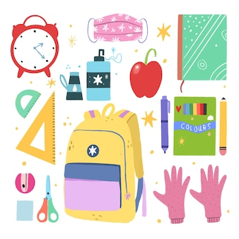 Nouvelles fournitures scolaires normales