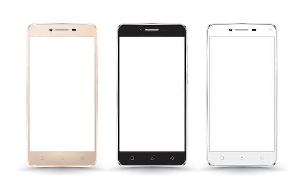 Nouvelles maquettes réalistes de smartphone pour téléphone portable