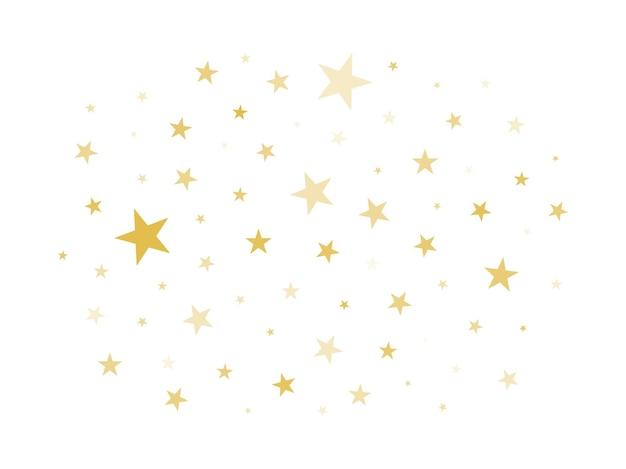 Nuage d'étoiles scintille étoiles isolés sur illustration vectorielle fond blanc