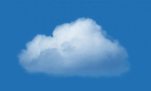 Nuage isolé sur fond de ciel bleu. réaliste