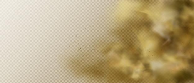 Nuage de poussière ou de fumée, fond de vapeur de vapeur de smog lourd brun
