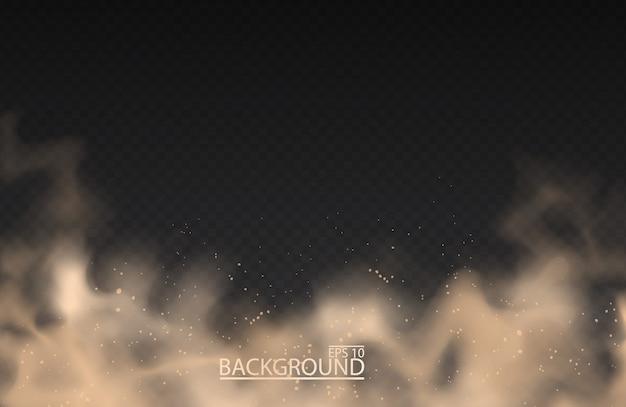 Nuage de poussière de sable en poudre