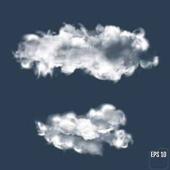 Nuage transparent. nuage réaliste.